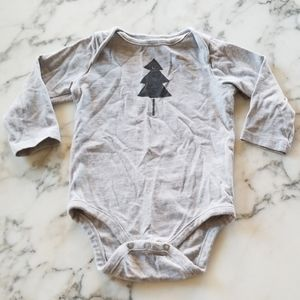 Grey Baby Long Sleeve Bodysuit, Size 3-6 Months